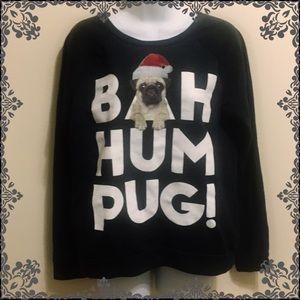 NWOT Bah Hum Pug Christmas Sweater